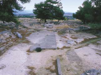 View of the archaeological site